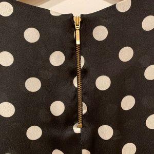 Zara Tops - Zara 3/4 Sleeve Black & White Polka Dot Blouse